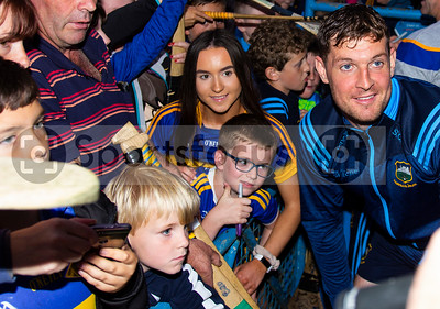 Tipperary's hurler Seamus Callanan meets young supporters during the Tipperary Senior Hurlers meet and greet night in Semple Stadium