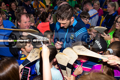 Tipperary's hurler Barry Heffernan meets young supporters during the Tipperary Senior Hurlers meet and greet night in Semple Stadium