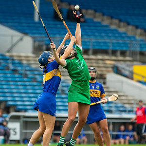 Limerick's Rebecca Delee and Tipperary's Julieanne Bourke