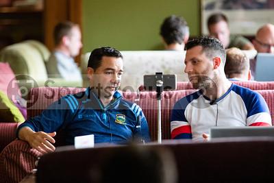 Tipperary U20's Selector Michael Bevans and Newstalk's Shane Stapleton
