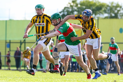Upperchurch Drombanes Jack Butler and Padraig Greene in action against Loughmore Castleiney's John Meagher