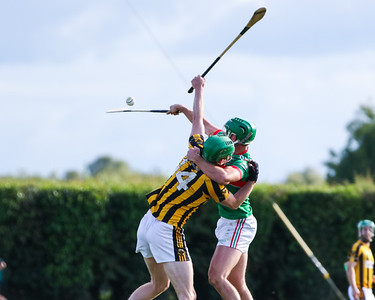 Loughmore Castleiney's John Ryan competes with Upperchurch Drombanes Paul Shanahan for the high ball