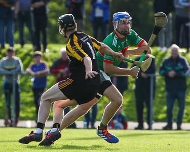 Loughmore Castleiney's John McGrath passes Upperchurch Drombanes Ciaran Shortt