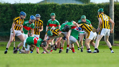 Loughmore Castleiney and Upperchurch players contest for the ball
