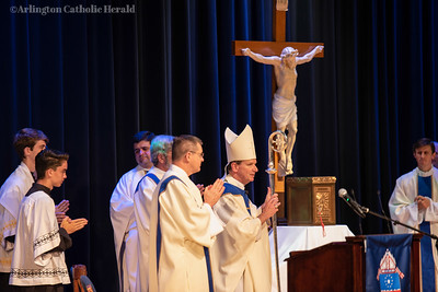 Mass with Bishop Michael F. Burbidge at WorkCamp at King George High School June 26, 2019