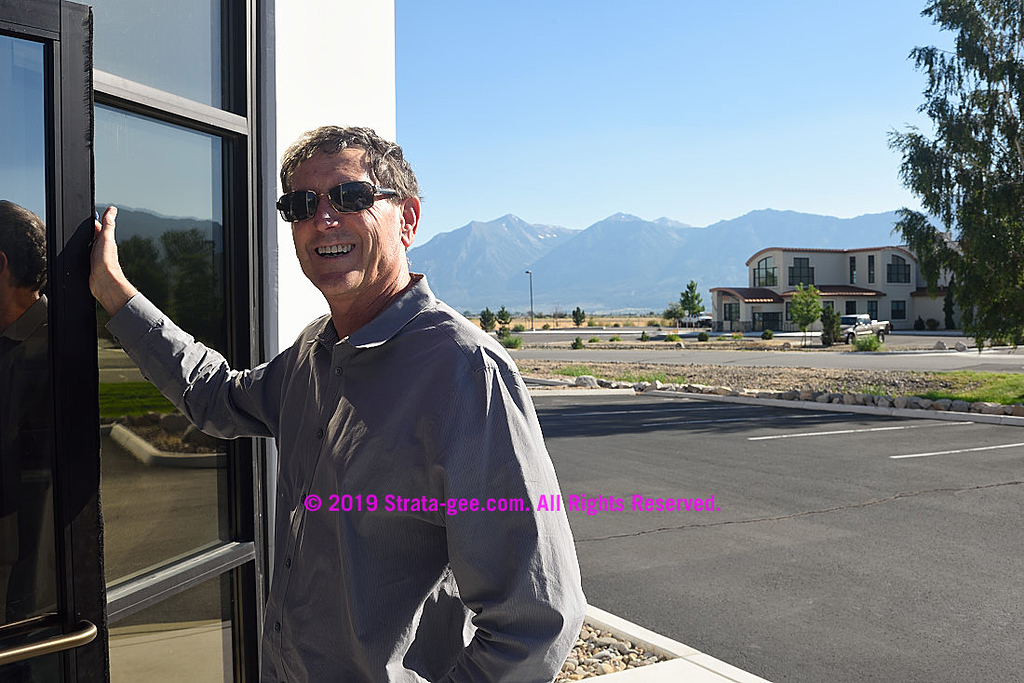 CEO Mark Schafle welcoming me to the new James Loudspeaker factory and headquarters in Minden, NV