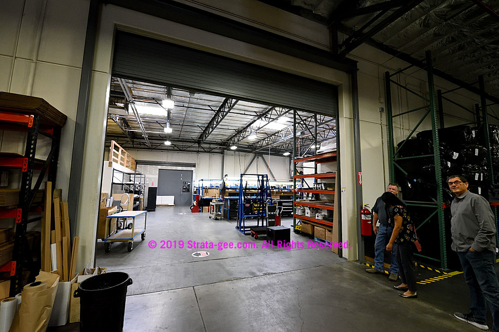 Large doorway to James Loudspeaker factory production floor
