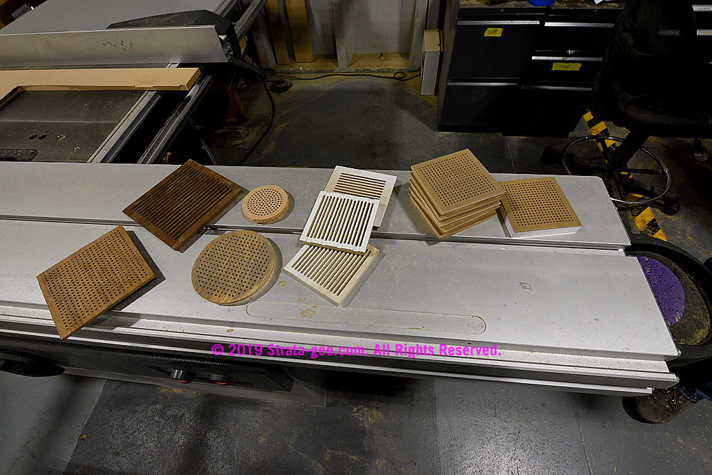 Wood grills in the wood shop