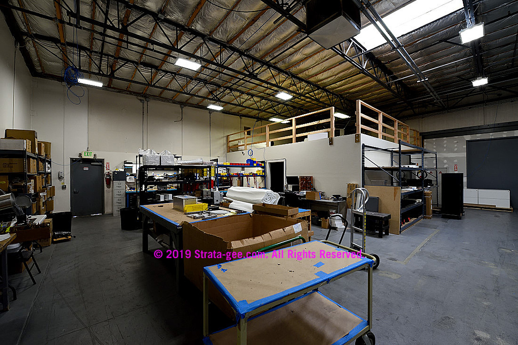 A large workspace near James Loudspeaker's production floor