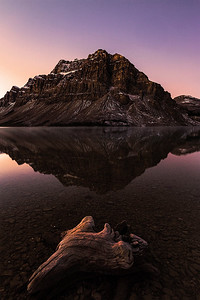 DA105,DN,Sunrise at Bow Lake