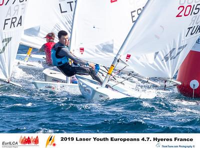 2019 Laser Youth Europeans 4.7. Hyères France
