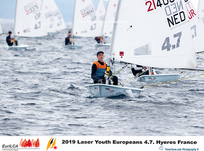 2019 Laser Youth Europeans 4.7. Hyères France