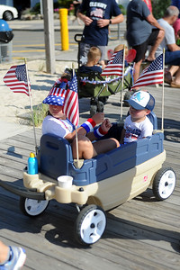 Variuos decorated bicycles and wagons participated in the Patriotic Bicycle Parade on the boardwalk in Lavallette, NJ on 07/04/2019. (STEVE WEXLER/THE OCEAN STAR).