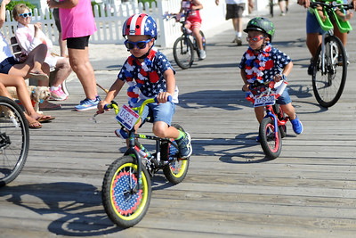 Several hundred people participated in the Patriotyic Bicycle Parade held on the boardwalk in Lavallette, NJ on 07/04/2019. (STEVE WEXLER/THE OCEAN STAR).