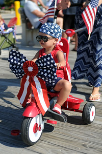 Patriotic Bicycle Parade held in Lavallette, NJ attracted several hundred participants in various costumes on 07/04/2019. (STEVE WEXLER/THE OCEAN STAR).
