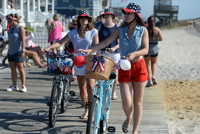 Several hundred people off all ages took part in the Patriotic Bicycle Parade held on the boardwalk in Lavallette, NJ on 07/04/2019. (STEVE WEXLER/THE OCEAN STAR).