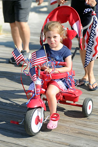 Several hundred people took part in the Lavallette Patriotic Bicycle Parade which was held on the boardwalk in Lavallette, NJ on 07/04/2019. (STEVE WEXLER/THE OCEAN STAR).