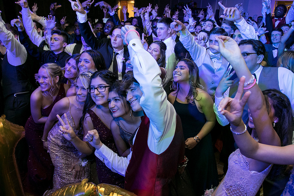 . Scenes from the Leominster High School Prom at DoubleTree by Hilton Hotel in Leominster, May 11, 2019. The dance floor was filled with prom goers having fun. SENTINEL & ENTERPRISE/JOHN LOVE