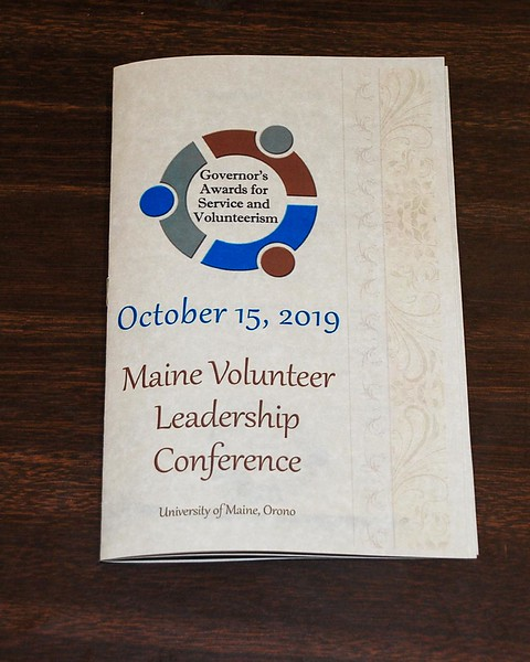 Photo of the program created for the 2019 Governor's Awards for Service and Volunteerism and the Maine Volunteer Leadership Conference