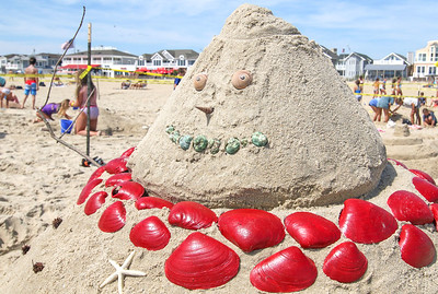 The 2019 Big Sea Day sandcastle contest in Manasquan, NJ on 8/10/19. [DANIELLA HEMINGHAUS]