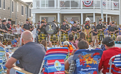 Shamrock & Thistle Pipes and Drums. Pre- Fouth of July festivities in Manasquan, NJ on 7/3/19. [DANIELLA HEMINGHAUS | THE COAST STAR]