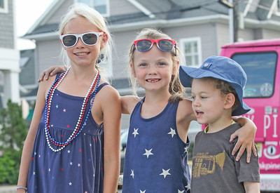 [L-R]: Katheryn, Jack, and Caroline North from Brielle. Pre- Fouth of July festivities in Manasquan, NJ on 7/3/19. [DANIELLA HEMINGHAUS | THE COAST STAR]