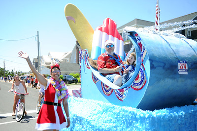 Float entry at the 2019 Fourth of July Parade, in the Boro of Mantoloking on 07/04/2019. (STEVE WEXLER/THE OCEAN STAR).