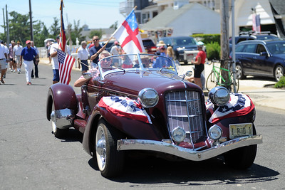 2019 Parade Grand Marshall, Stanley Witkowsky in a 1938 Auburn Boat Tail Speedster leading the parade in Mantoloking on 07/04/2019. (STEVE WEXLER/THE OCEAN STAR).