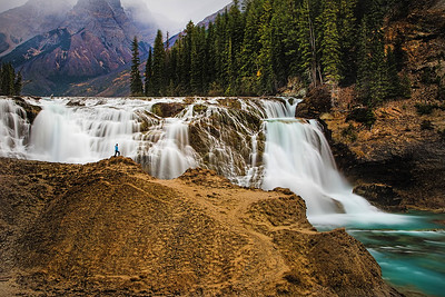 DA105,DT,Wapta Falls in Yoho National Park British Columbia, Canada