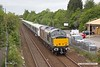 190529-004  Rail Operations group (ROG) class 37 No. 37608 Andromeda is seen passing Tenter Lane, Mansfield, with CrossRail electric unit No. 345023 in tow, running as 5Q26, 12:16 Old Dalby - Worksop Down Reception. With the opening of CrossRail being delayed until sometime next year, or maybe even beyond, the completed stock will be laid up until required, hence 345023 heading to Worksop for storage.