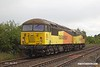 190528-005  Colas Rail Freight class 56 No. 56087 with 56094 'dead in tow' is seen passing Vale Road, Mansfield Woodhouse, running as 0Z94, 13:10 Doncaster, Belmont Down Yard - Nottingham, Eastcroft.