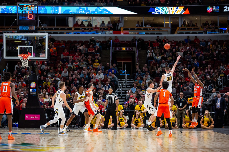 Illinois vs. Iowa at the United Center in Chicago, Illinois on March 13, 2019.
