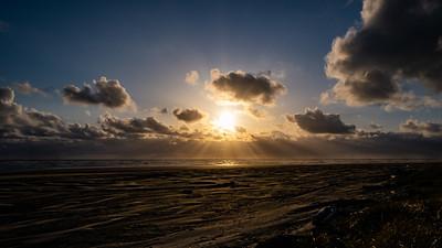 Sunset at Pacific Beach, Washington.