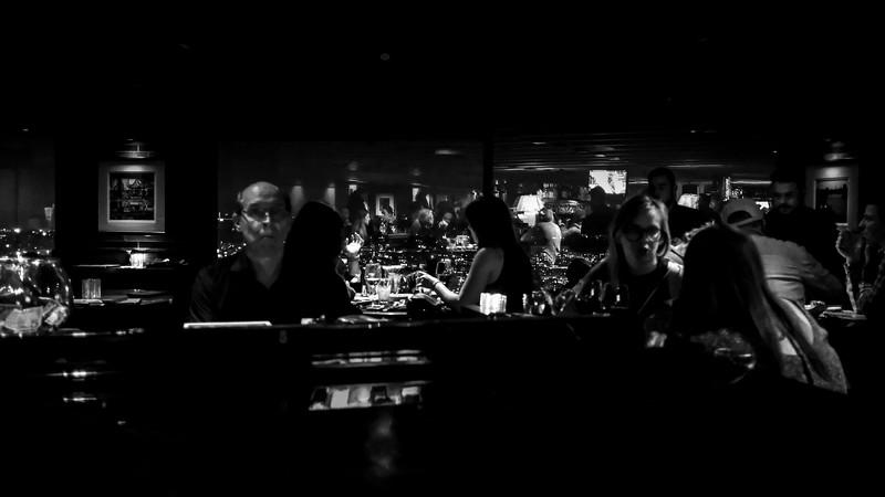 Late night piano bar in Portland, Oregon