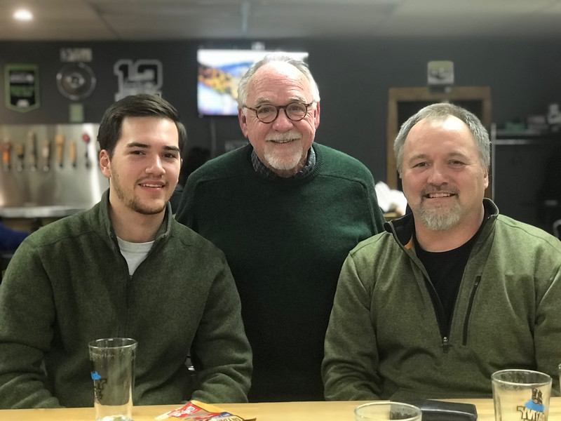 Joe and his son (and my friend) Logan and I share a beer at Finholms in Gig Harbor, Wa