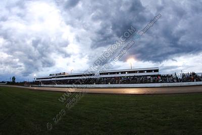 Grandstands with dark skies Sept 6
