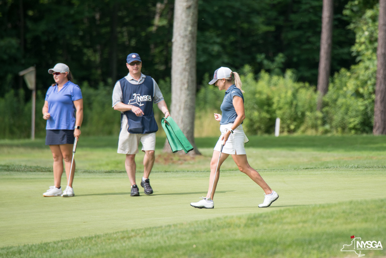 Rosenberg leads at NYS Women's Am, two tied for Mid-Am lead after round one