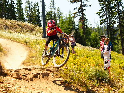 Max MCKENZIE on his race run NW Cup # 6, 2019 Silver Mountain Bike Park Kellogg Idaho