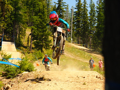 Camron RATKOVIAK on his race run place NW Cup # 6, 2019 Silver Mountain Bike Park Kellogg Idaho