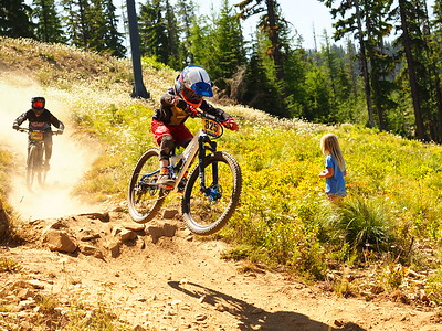 Elliott KLEIN on his race run NW Cup # 6, 2019 Silver Mountain Bike Park Kellogg Idaho