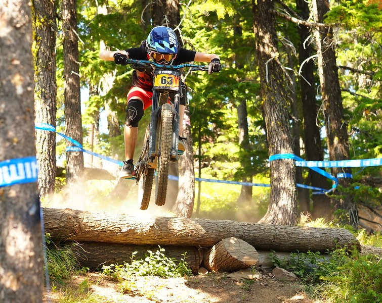 Ella ERICKSON 63 race run coming in 1 place NW Cup # 6, 2019 Silver Mountain Bike Park Kellogg Idaho