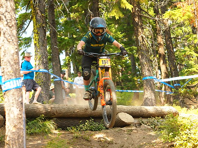 Rebecca SASTEN on her race run NW Cup # 6, 2019 Silver Mountain Bike Park Kellogg Idaho