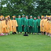 "AIMEE AMBROSE | THE GOSHEN NEWS <br /> Members of Northridge High School's senior choir sing ""Sweet Victory"" during the school's graduation ceremony in Middlebury Sunday."