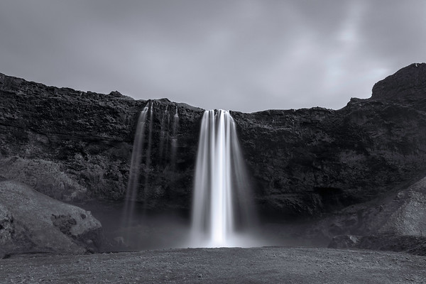 Picturesque Waterfall in South Iceland