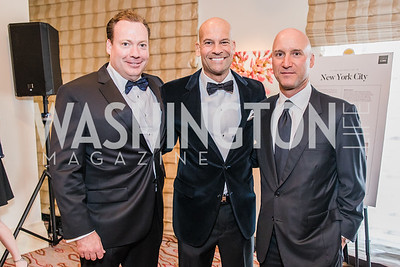 Tim Gocke, Brian Subach, Mark Kimsey. Photo by Alfredo Flores. 12th Annual Joan Hisaoka Make A Difference Gala. Mandarin Oriental. Saturday, September 21, 2019.