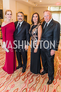 Dana Hines, Bob Hisaoka, Bonnie Patterson, Dick Patterson, Photo by Alfredo Flores. 12th Annual Joan Hisaoka Make A Difference Gala. Mandarin Oriental. Saturday, September 21, 2019.