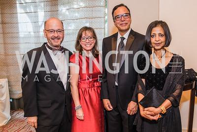 David Fensterheim, Julie Fensterheim , Kisleya Agarwal, Ritu Agarwal. Photo by Alfredo Flores. 12th Annual Joan Hisaoka Make A Difference Gala. Mandarin Oriental. Saturday, September 21, 2019.