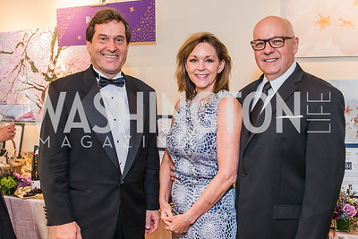 John Deeken, Kathryn Jones, J. Stephen Jones. Photo by Alfredo Flores. 12th Annual Joan Hisaoka Make A Difference Gala. Mandarin Oriental. Saturday, September 21, 2019..dng