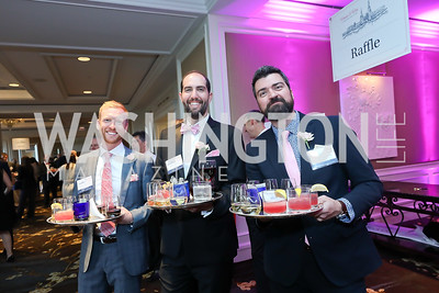 Ross Litkenhous, Phil Storch, Mike Timcheck. Photo by Tony Powell. 14th Annual Women & Wine. Ritz Tysons. April 24, 2019