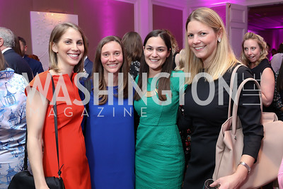 Erika Owings, Rachel Rearden, Robbie Saclarides, Katie Lenss. Photo by Tony Powell. 14th Annual Women & Wine. Ritz Tysons. April 24, 2019